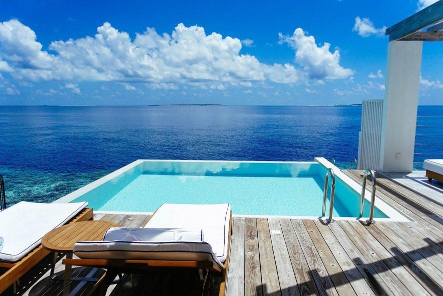 Amilla Fushi Luxury Resort and Residences - Baa Atoll, Maldives - Sunset Water Villa Pool Deck