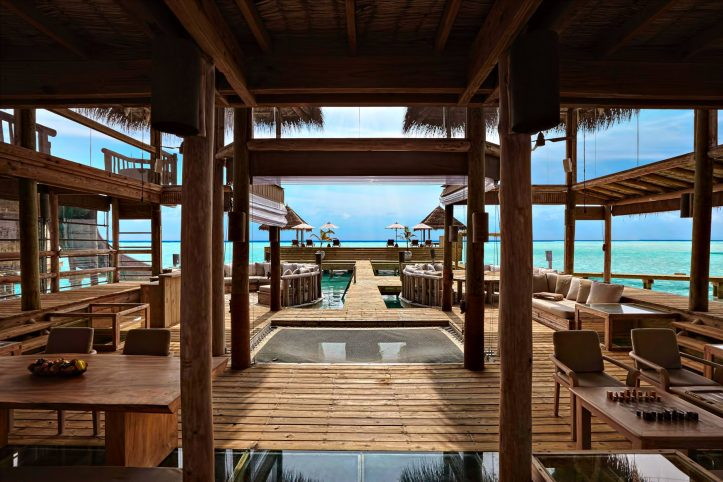 Gili Lankanfushi Luxury Resort - North Male Atoll, Maldives - The Private Reserve Living Dining Area View