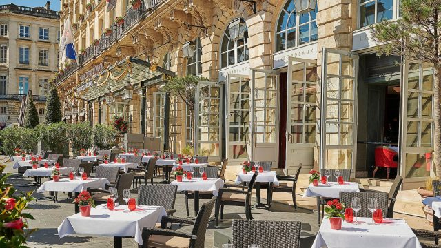 InterContinental Bordeaux Le Grand Hotel - Bordeaux, France - Restaurant Front Patio