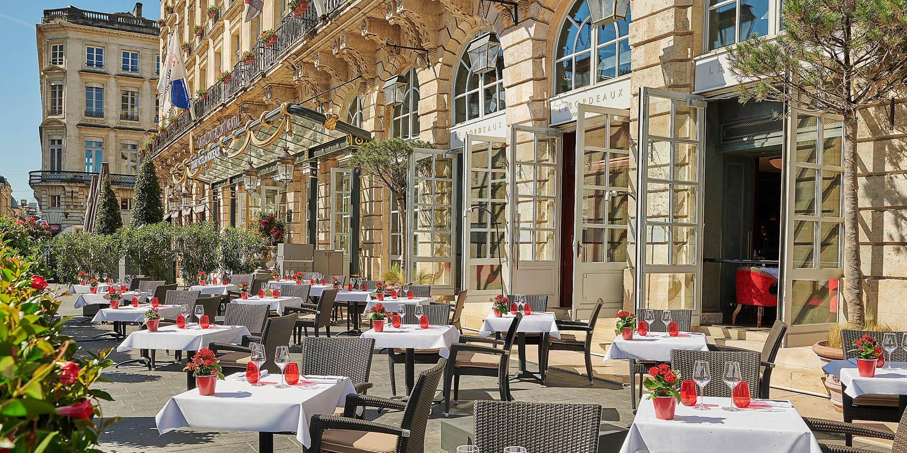 InterContinental Bordeaux Le Grand Hotel - Bordeaux, France - Restaurant Front Patio