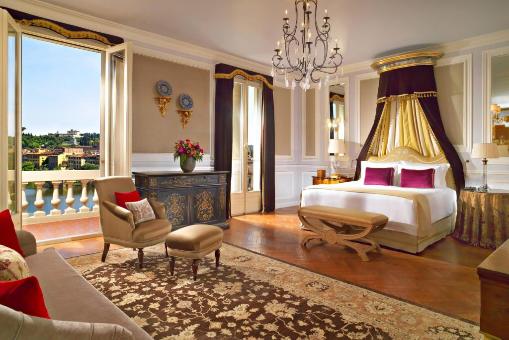 The St. Regis Florence Luxury Hotel - Florence, Italy - Presidential Da Vinci Suite Bedroom