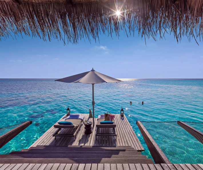 One&Only Reethi Rah Luxury Resort - North Male Atoll, Maldives - Overwater Villa Ocean Deck Chairs