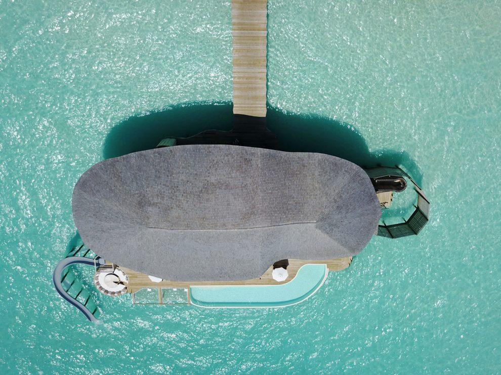 Soneva Jani Luxury Resort - Noonu Atoll, Medhufaru, Maldives - 4 Bedroom Water Reserve Villa with Slide Overhead Aerial