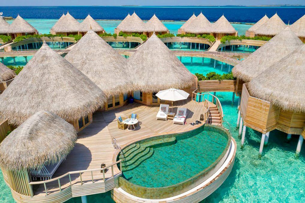 The Nautilus Maldives Luxury Resort - Thiladhoo Island, Maldives - Ocean Residence Private Pool Aerial