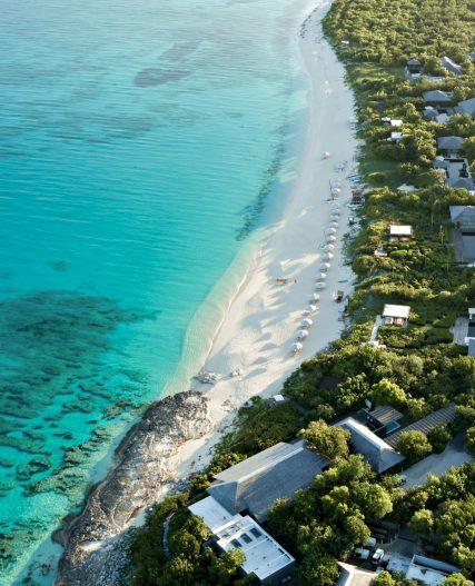 Amanyara Luxury Resort - Providenciales, Turks and Caicos Islands - Beach Club Aerial