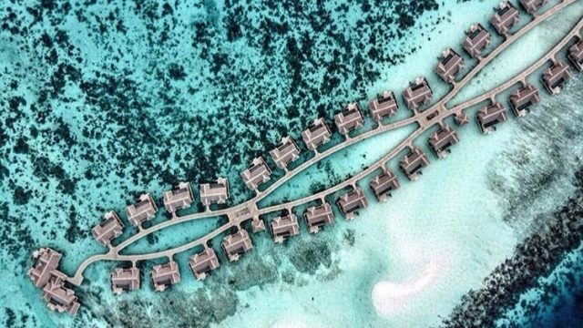 Joali Maldives Luxury Resort - Muravandhoo Island, Maldives - Water Villa Overhead Aerial