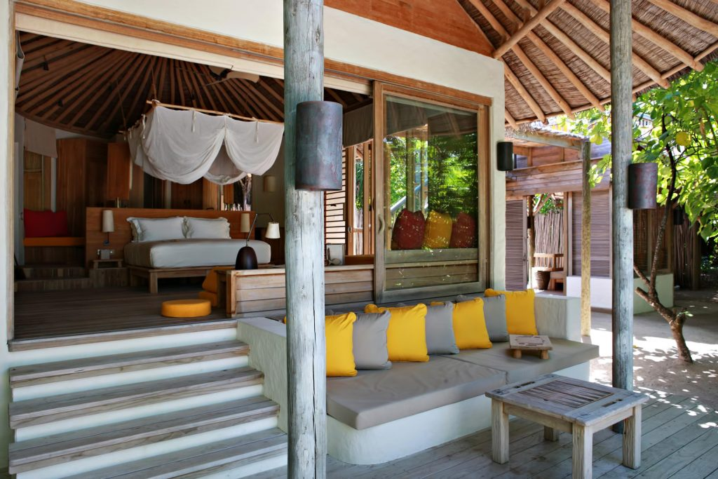 Six Senses Laamu Luxury Resort - Laamu Atoll, Maldives - Ocean Beachfront Villa Deck