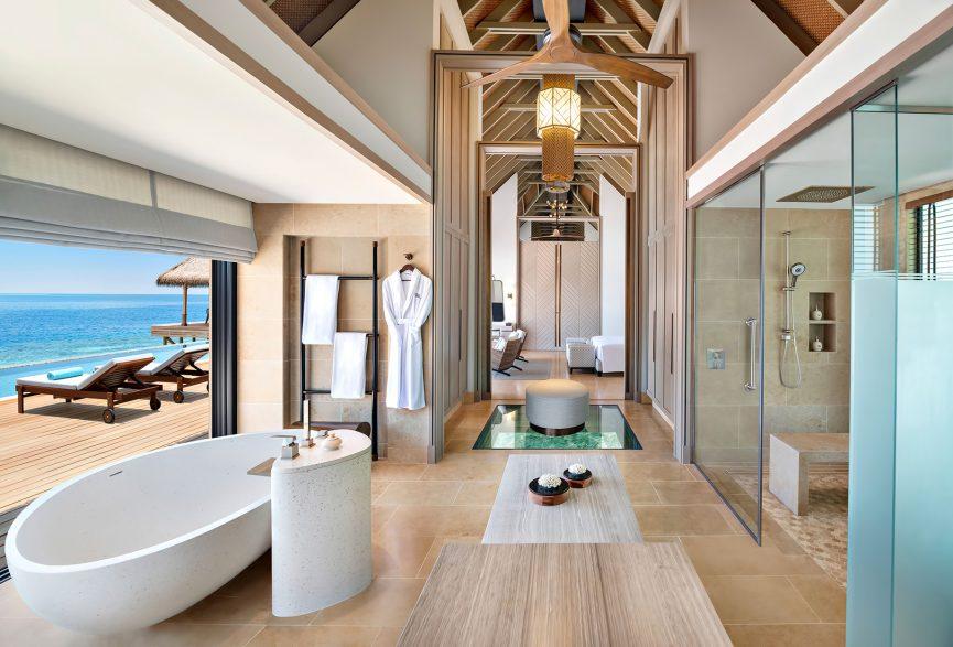Waldorf Astoria Maldives Ithaafushi Luxury Resort - Ithaafushi Island, Maldives - Overwater Villa Bathroom