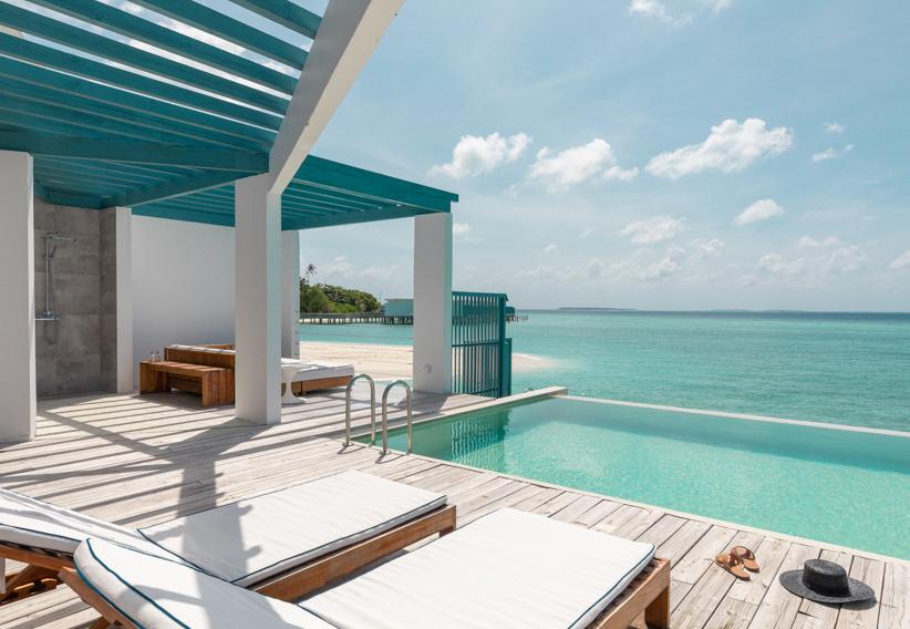 Amilla Fushi Luxury Resort and Residences - Baa Atoll, Maldives - Overwater Villa Pool Deck View