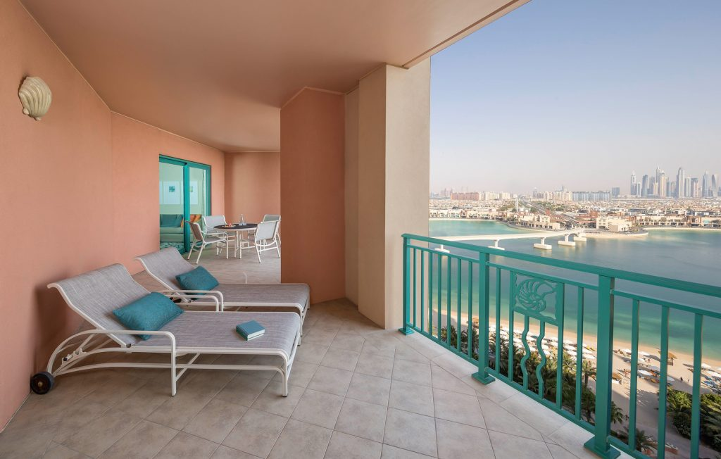 Atlantis The Palm Luxury Resort - Crescent Rd, Dubai, UAE - Terrace Club Suite Balcony
