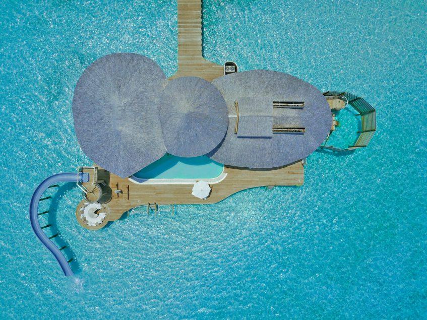 Soneva Jani Luxury Resort - Noonu Atoll, Medhufaru, Maldives - 3 Bedroom Water Reserve Villa with Slide Overhead Aerial