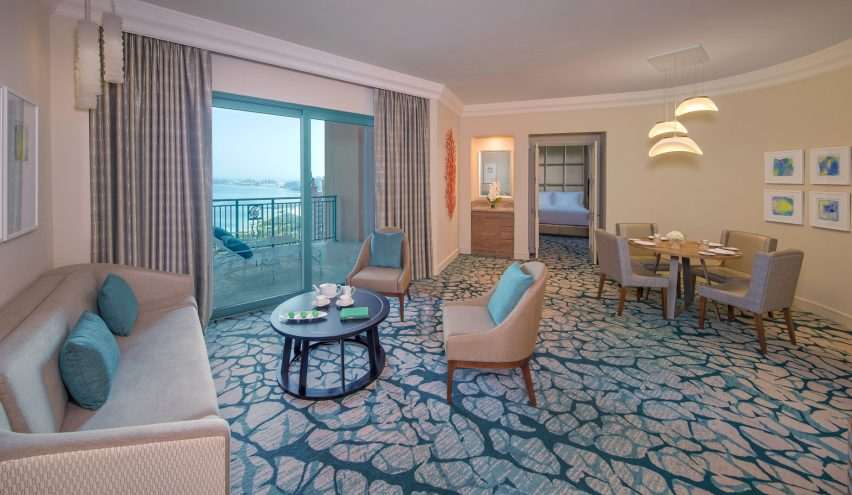Atlantis The Palm Luxury Resort - Crescent Rd, Dubai, UAE - Terrace Club Suite Living Room