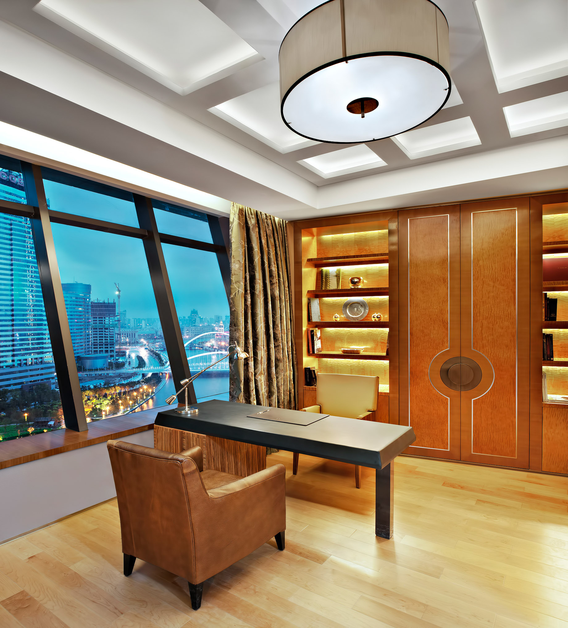 The St. Regis Tianjin Luxury Hotel – Tianjin, China – Riviera Restaurant – Presidential Suite Study Room