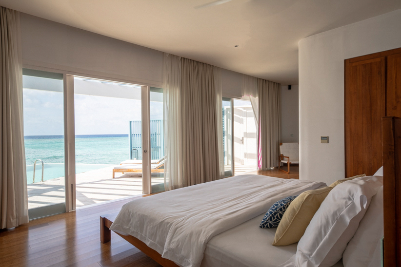 Amilla Fushi Luxury Resort and Residences - Baa Atoll, Maldives - Overwater Villa Bedroom