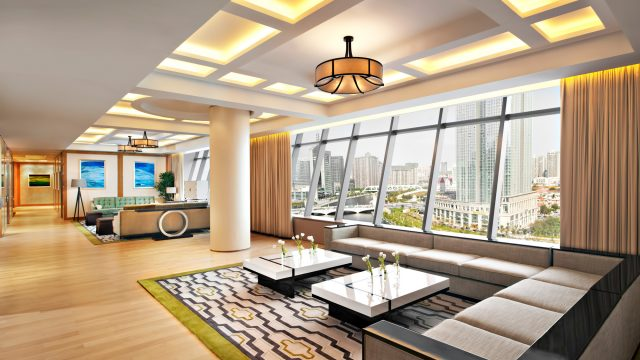 The St. Regis Tianjin Luxury Hotel - Tianjin, China - Riviera Restaurant - Presidential Suite Living Room