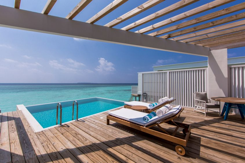 Amilla Fushi Luxury Resort and Residences - Baa Atoll, Maldives - Ocean Lagoon House Overwater Pool Deck