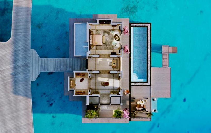 Joali Maldives Luxury Resort - Muravandhoo Island, Maldives - Water Villa Overhead Section