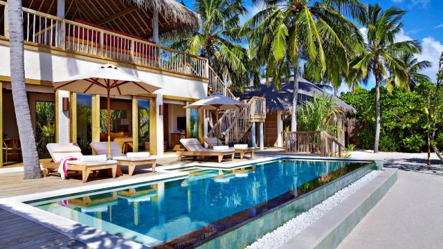 Six Senses Laamu Luxury Resort - Laamu Atoll, Maldives - Ocean Beachfront Villa Pool