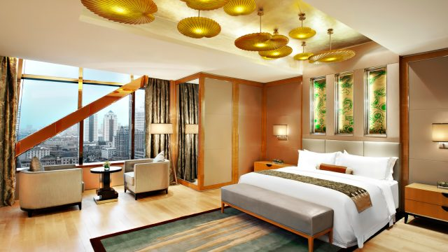 The St. Regis Tianjin Luxury Hotel - Tianjin, China - Riviera Restaurant - Presidential Suite Bedroom