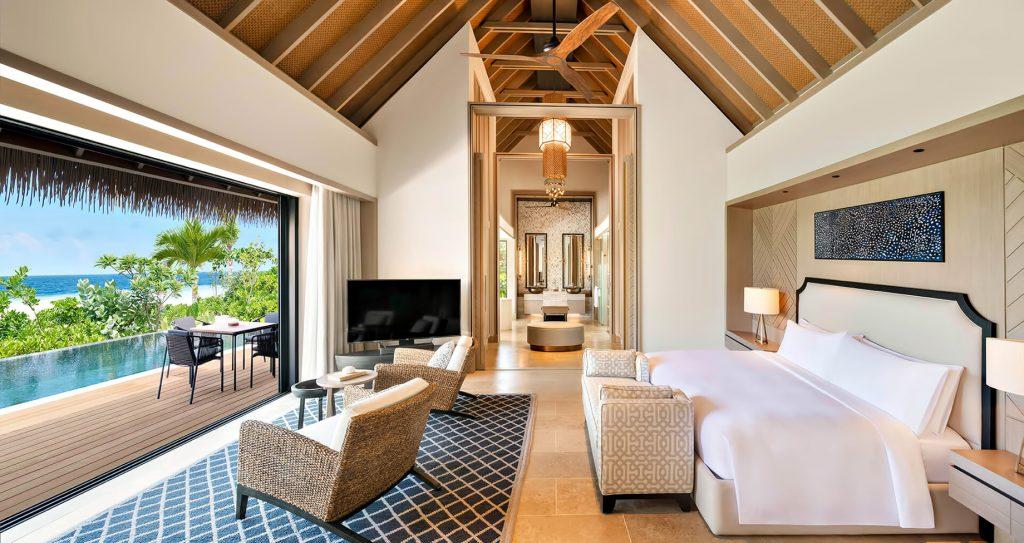 Waldorf Astoria Maldives Ithaafushi Luxury Resort - Ithaafushi Island, Maldives - Beach Villa with Pool Master Bedroom