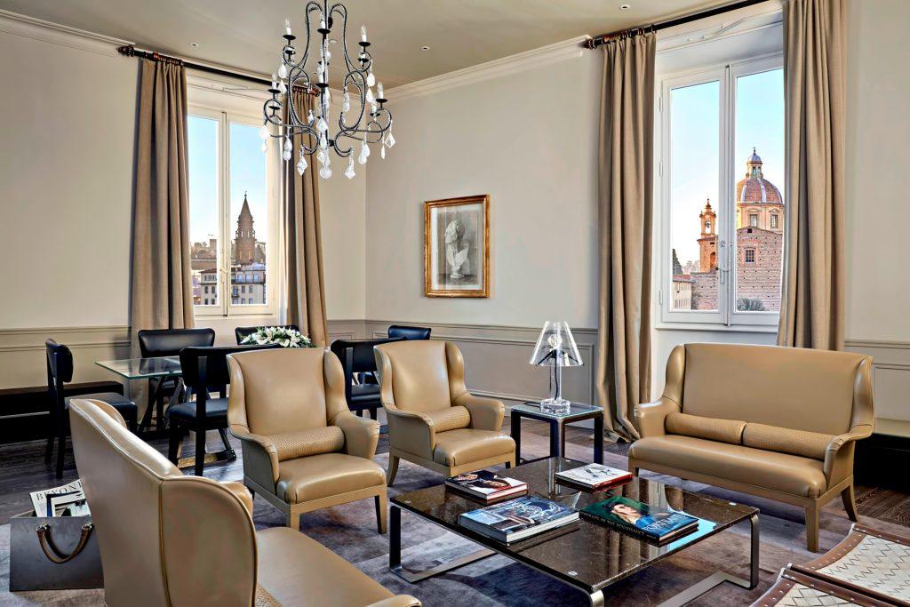 The St. Regis Florence Luxury Hotel - Florence, Italy - Bottega Veneta Suite Living Room