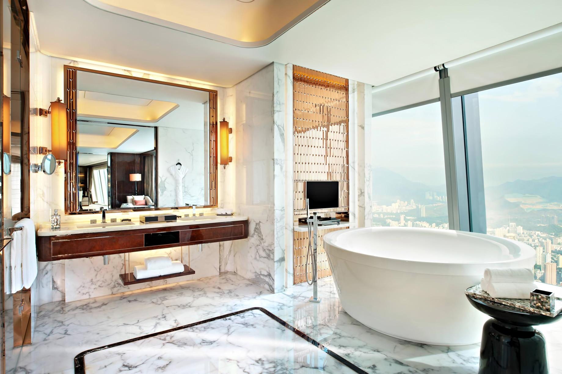 The St. Regis Shenzhen Luxury Hotel - Shenzhen, China - Presidential Suite Bathroom