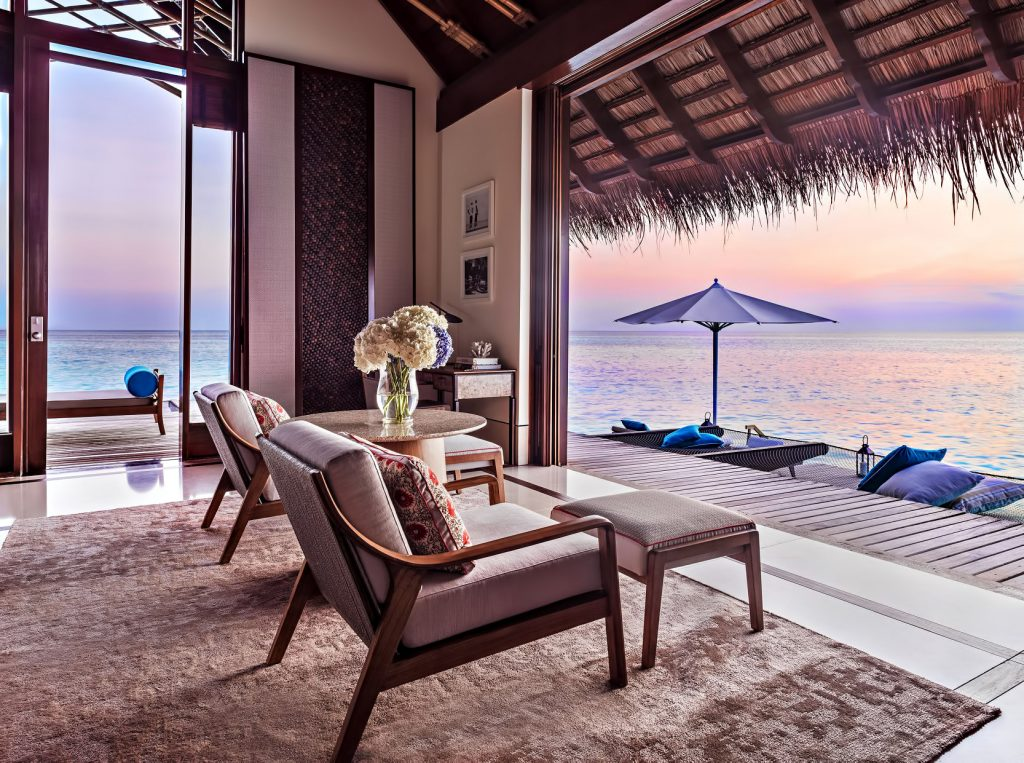 One&Only Reethi Rah Luxury Resort - North Male Atoll, Maldives - Overwater Villa Sitting Area