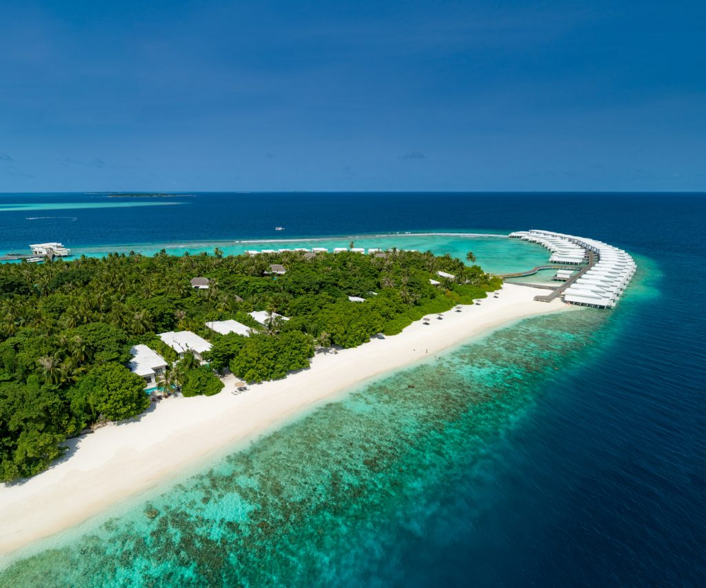 Amilla Fushi Luxury Resort and Residences - Baa Atoll, Maldives - Ocean Beach Houses Aerial
