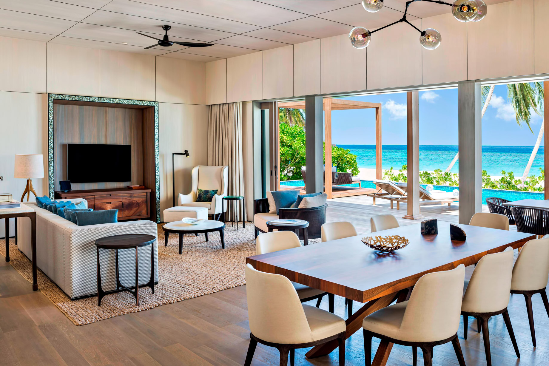 The St. Regis Maldives Vommuli Luxury Resort - Dhaalu Atoll, Maldives - Caroline Astor Estate Living Room