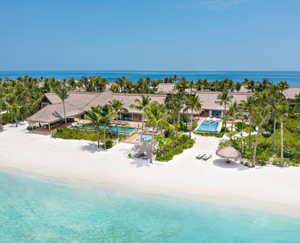 Waldorf Astoria Maldives Ithaafushi Luxury Resort - Ithaafushi Island, Maldives - Grand Beach Villa with Pool Three Bedroom Aerial