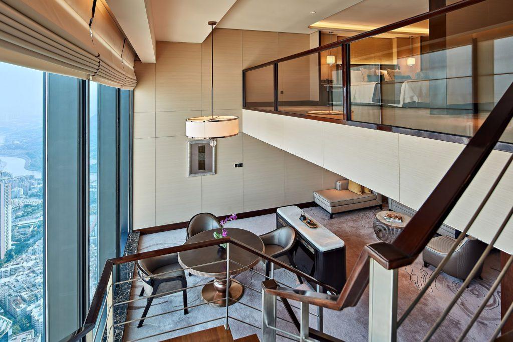 The St. Regis Shenzhen Luxury Hotel - Shenzhen, China - Duplex Suite Living Room