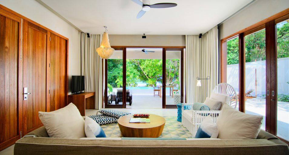 Amilla Fushi Luxury Resort and Residences - Baa Atoll, Maldives - Ocean Beach House Living Area
