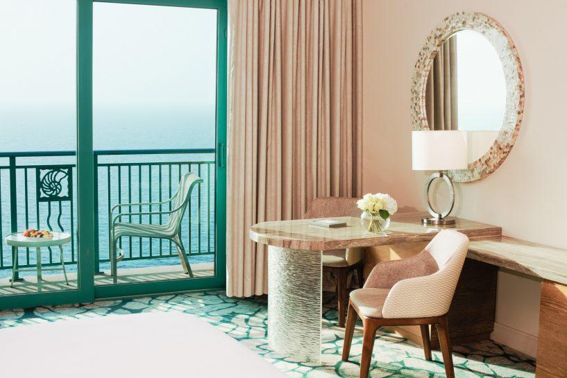 Atlantis The Palm Luxury Resort - Crescent Rd, Dubai, UAE - Ocean View Room Desk