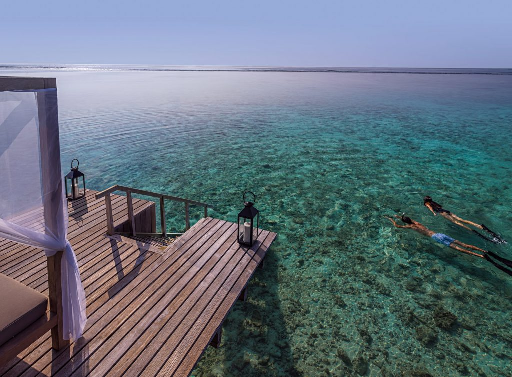 One&Only Reethi Rah Luxury Resort - North Male Atoll, Maldives - Overwater Villa Ocean Snorkeling