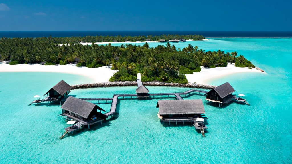 One&Only Reethi Rah Luxury Resort - North Male Atoll, Maldives - Overwater Villa Aerial