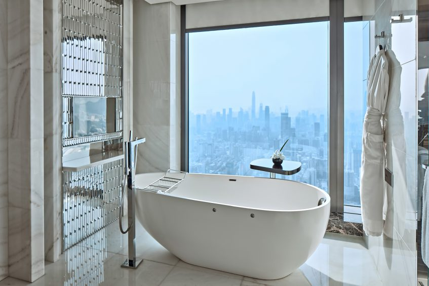 The St. Regis Shenzhen Luxury Hotel - Shenzhen, China - Guest Bathroom