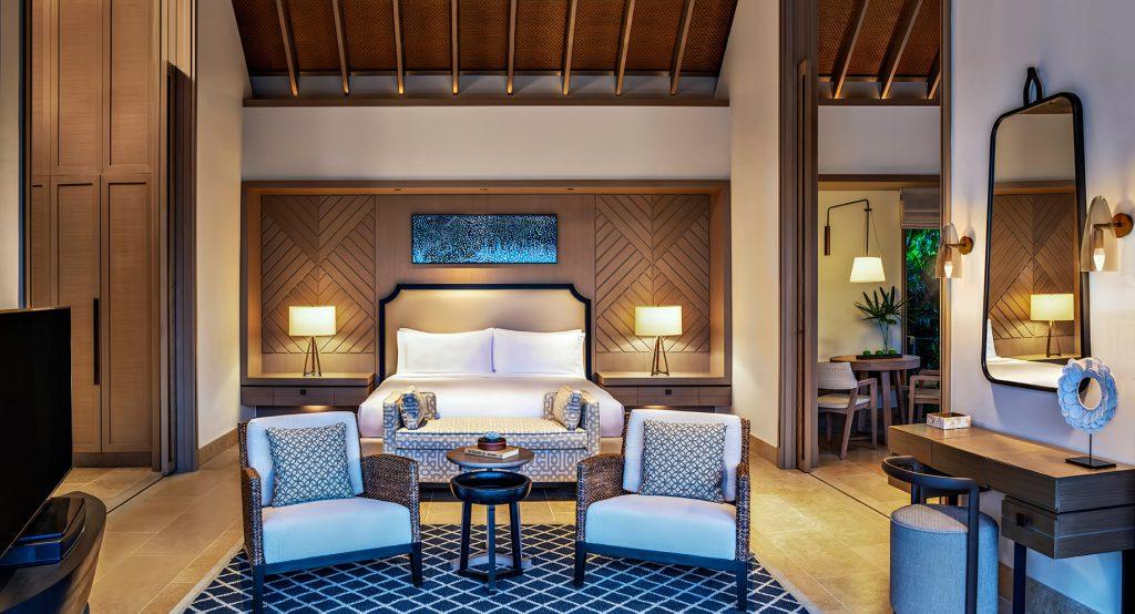 Waldorf Astoria Maldives Ithaafushi Luxury Resort - Ithaafushi Island, Maldives - Grand Beach Villa with Pool Master Bedroom
