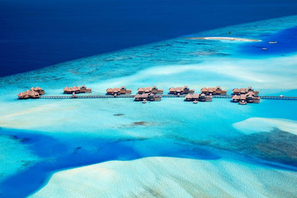 Gili Lankanfushi Luxury Resort - North Male Atoll, Maldives - Overwater Villa Jetty Aerial