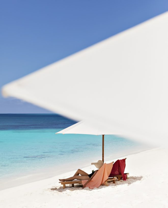 Amanyara Luxury Resort - Providenciales, Turks and Caicos Islands - White Sand Beach Chairs