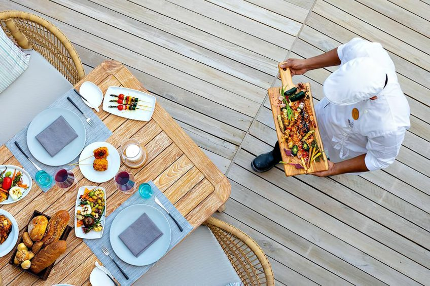 The Nautilus Maldives Luxury Resort - Thiladhoo Island, Maldives - Over Water Restaurant Dining