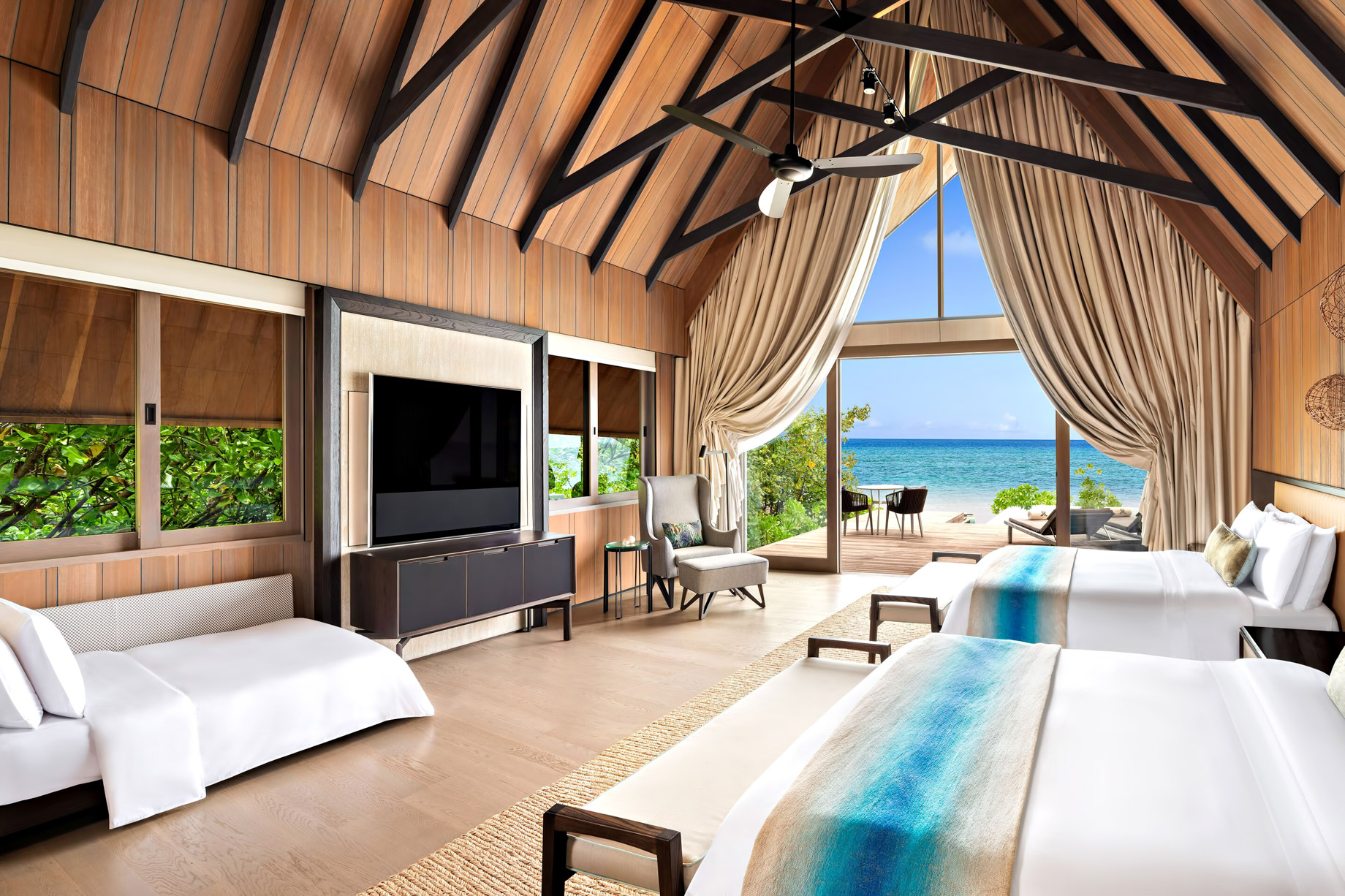 The St. Regis Maldives Vommuli Luxury Resort - Dhaalu Atoll, Maldives - Queen Two Bedroom Beach Suite