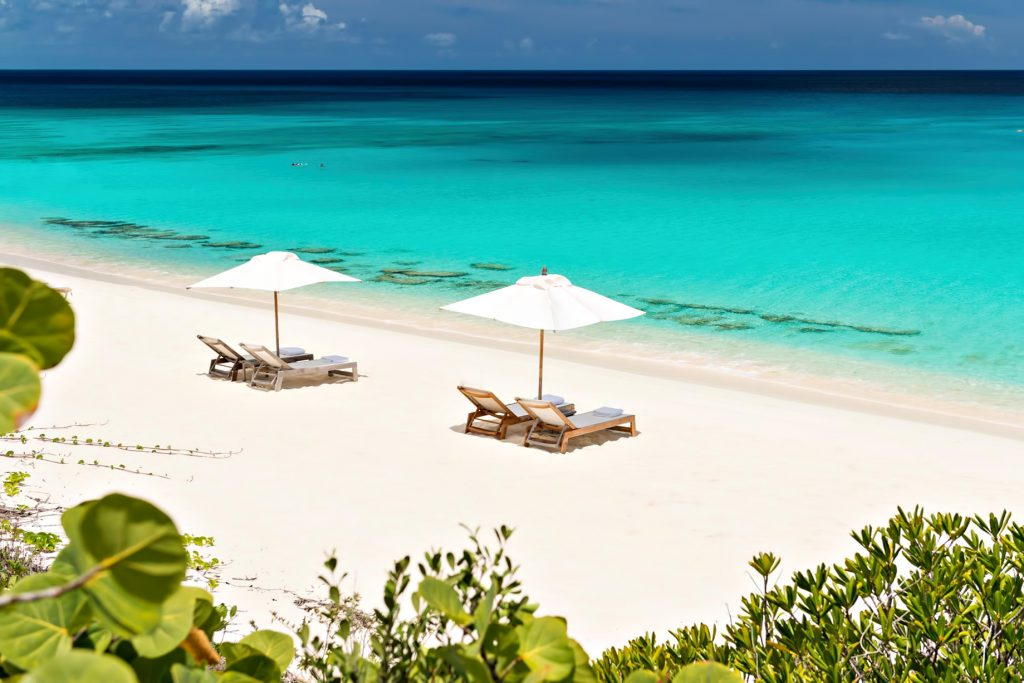 Amanyara Luxury Resort - Providenciales, Turks and Caicos Islands - White Sand Beach Turquoise Water