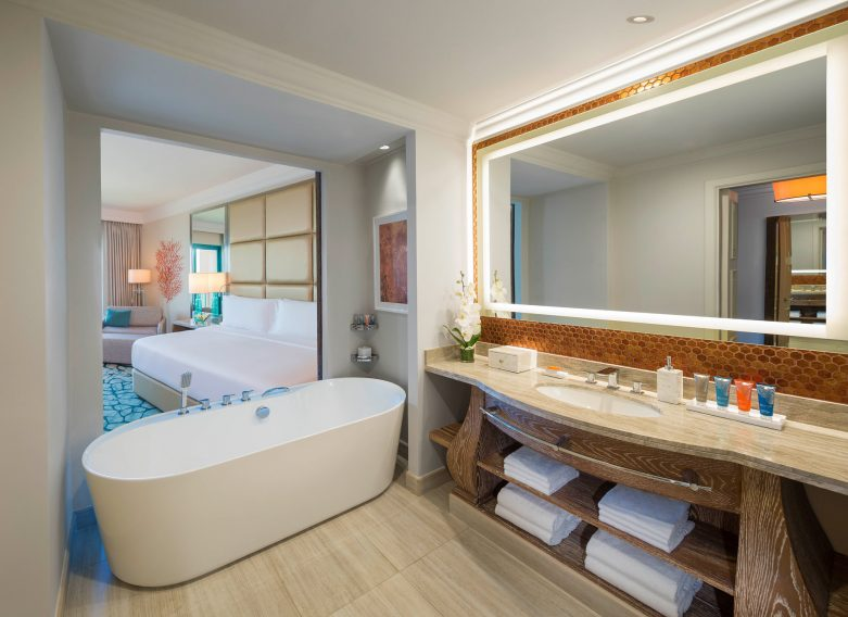 Atlantis The Palm Luxury Resort - Crescent Rd, Dubai, UAE - Ocean View Bathroom