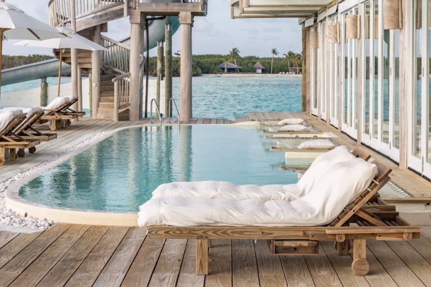 Soneva Jani Luxury Resort - Noonu Atoll, Medhufaru, Maldives - 3 Bedroom Water Reserve Villa with Slide Exterior Pool Deck