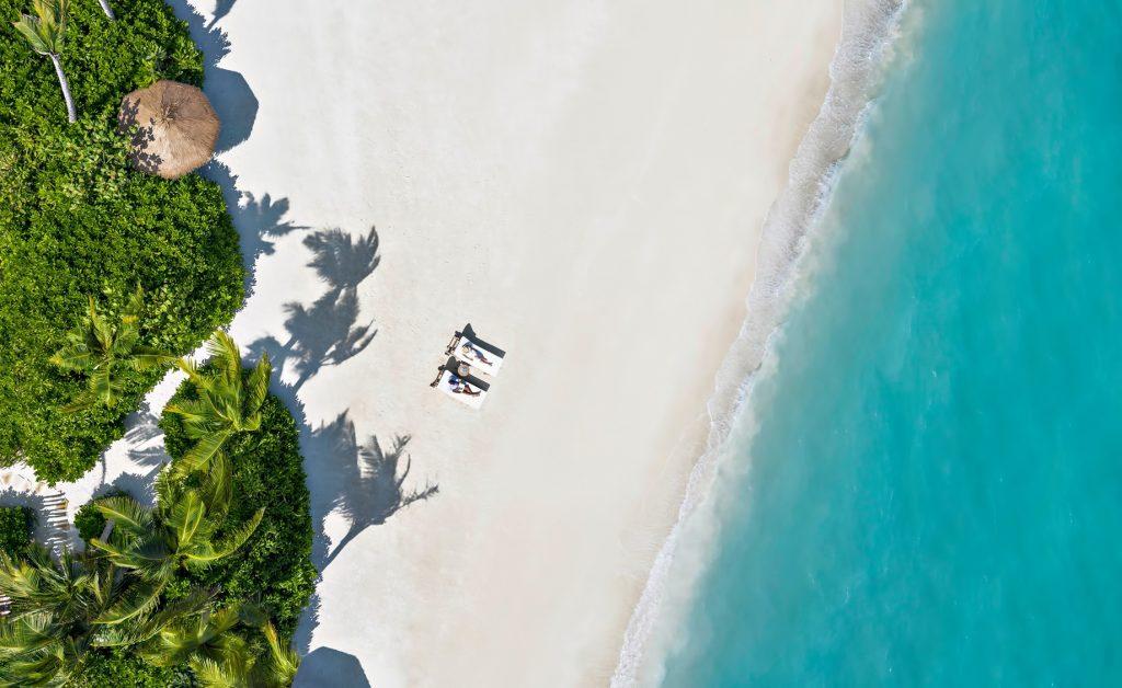 Waldorf Astoria Maldives Ithaafushi Luxury Resort - Ithaafushi Island, Maldives - White Sand Beach Aerial