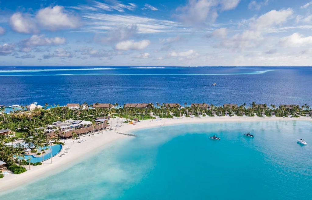 Waldorf Astoria Maldives Ithaafushi Luxury Resort - Ithaafushi Island, Maldives - White Sand Beach Resort Aerial