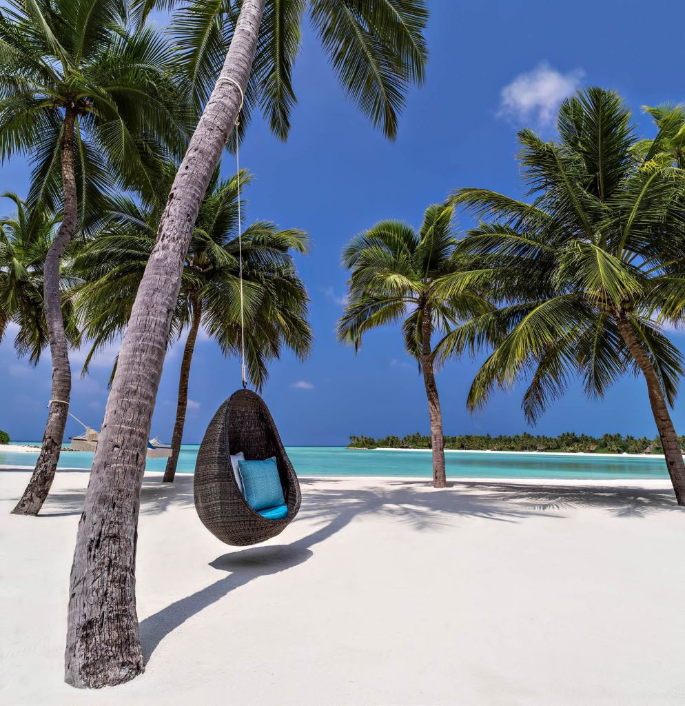 One&Only Reethi Rah Luxury Resort - North Male Atoll, Maldives - Grand Beach Villa Swinging Tree Chair