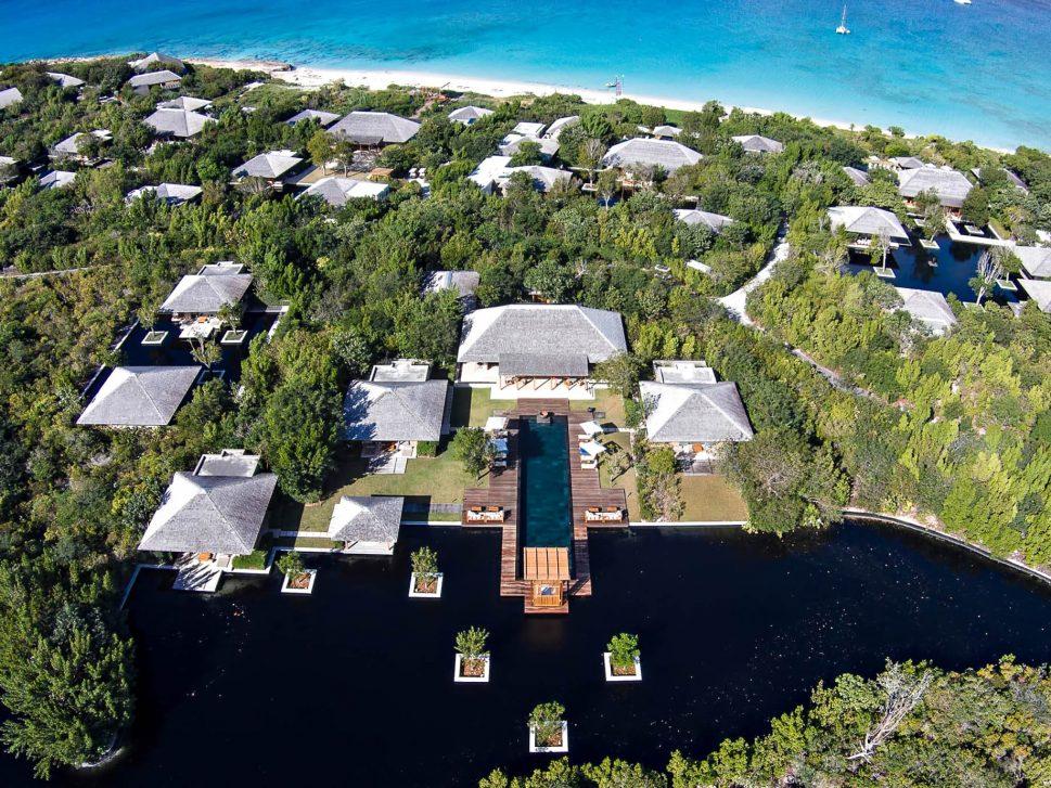 Amanyara Luxury Resort - Providenciales, Turks and Caicos Islands - 4 Bedroom Tranquility Villa Aerial