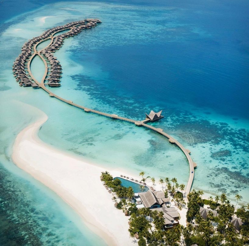 Joali Maldives Luxury Resort - Muravandhoo Island, Maldives - White Sand Beach Aerial