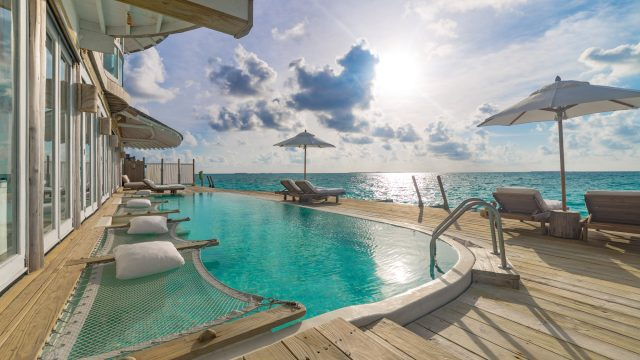 Soneva Jani Luxury Resort - Noonu Atoll, Medhufaru, Maldives - 3 Bedroom Water Reserve Villa with Slide Pool Decl Ocean View